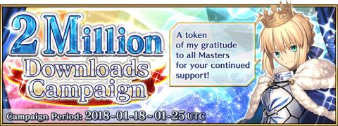 US 2 Million Downloads Campaign